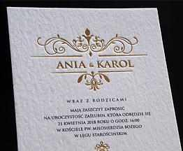 Cotton wedding invitations