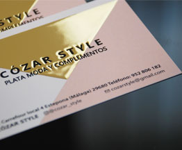 Gilded silvered business cards