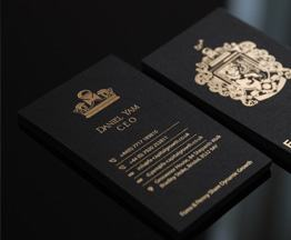 Hot-stamping business cards